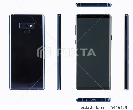 Mockup of new modern smartphone with buttons 54464299