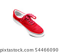Red canvas shoes isolated on white 54466090