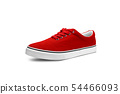 Red canvas shoes isolated on white 54466093