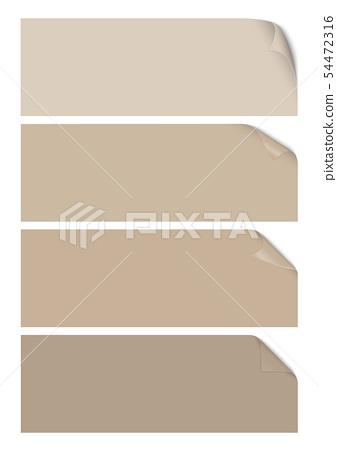 Empty paper sheet 54472316
