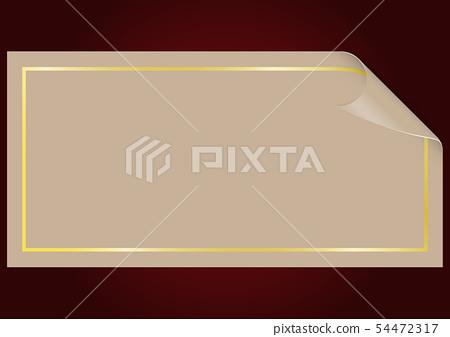 Empty paper sheet 54472317