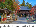 Tokyo Hachioji City View from the inside of the four heavenly gates of Takaoyama Yakuin in autumn 54473143