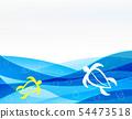 열대 여름 청량 바다 레져 바다 거북 물 웨이브 54473518