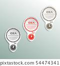 Light bulb idea concept template.  54474341