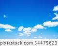 하늘 푸른 하늘 구름 54475623