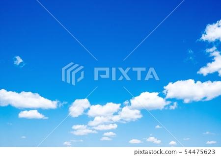 天藍色的天空雲 54475623