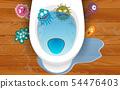 disease on toilet in the tiolet room 54476403