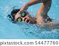 크롤링 수영 수영 선수 54477760