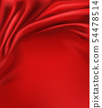 红色 红 缎布 54478514