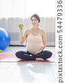 Beautiful asian pregnant woman. pregnancy, fitness and healthy lifestyle concept 014 54479336