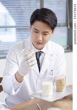 Research scientist concept, technicians working in laboratory 308 54479658