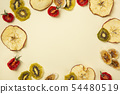 Various dried fruits, healthy lifestyle concept photo 105 54480519