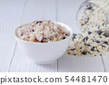 Assortment of Various grains and rice in bowls. 259 54481470