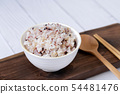 Assortment of Various grains and rice in bowls. 293 54481476
