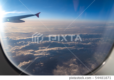 The window of the airplane 54481871