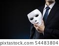 一个男人戴着面具和一套西装 54483804
