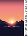adventure mountain landscape background at sunset 54486282