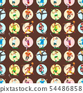 Health sport seamless pattern background wellness flat people characters sporting man activity woman 54486858