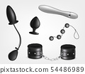 Accessories for sex games realistic vector set 54486989