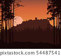 Realistic illustration of mountain landscape with 54487541