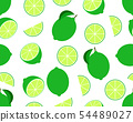 Seamless pattern of fresh lime  54489027