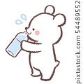 北極熊水化 - 與汗水符號 54489552