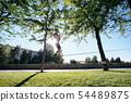 Man Training With Trickline Slackline In City Park 54489875