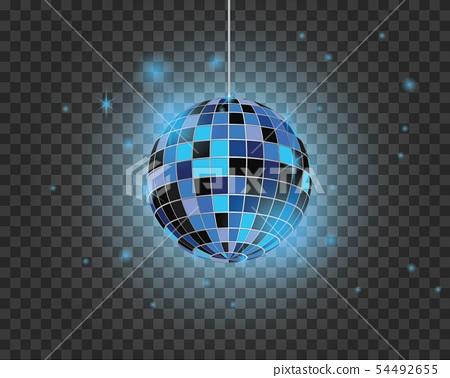 Disco ball vector icon illustration 54492655