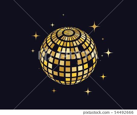 Disco ball vector icon illustration 54492666