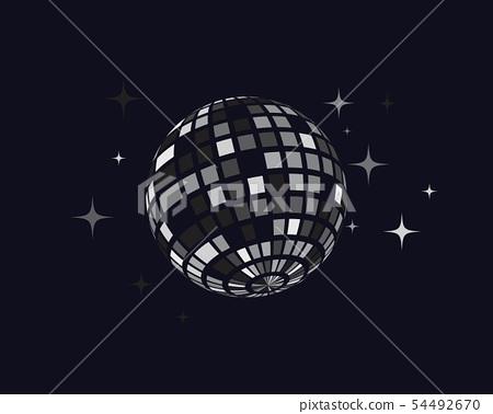 Disco ball vector icon illustration 54492670