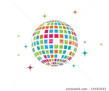 Disco ball vector icon illustration 54492683