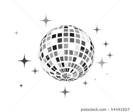 Disco ball vector icon illustration 54492687