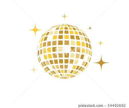 Disco ball vector icon illustration 54492692