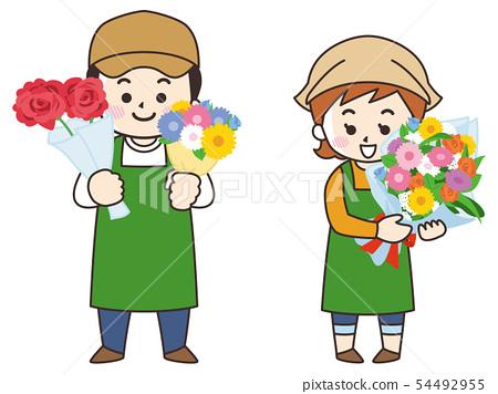 花店男人和女人 54492955