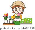微笑的花店女人 54493330