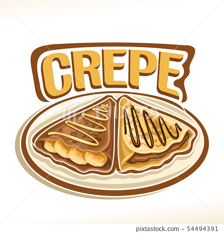 Vector logo for Crepe 54494391