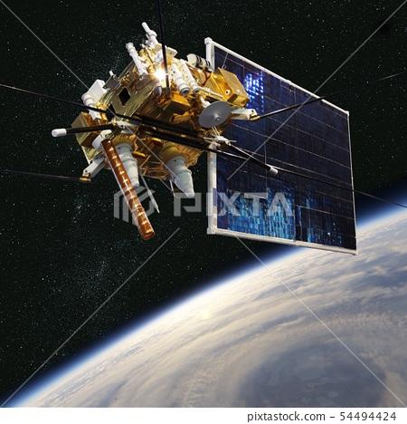 Modern meteorological satellite at the Earth orbit 54494424