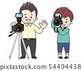 攝影師男性和女性 54494438