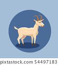 Cute goat vector illustration isolated. Farm animal goat cartoon character. 54497183
