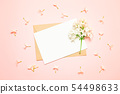 Mockup white greeting card and envelope with lilac 54498633