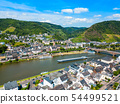Cochem town aerial view, Germany 54499521