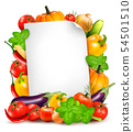 Fresh vegetables and food ingredients and white 54501510