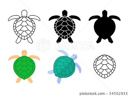 Set of turtle icons and sign in vector art 54502933