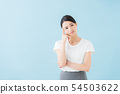 Business twenties women (blue background) 54503622