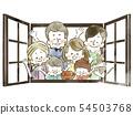 세 가족 - 창문 - 수채화 54503768