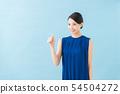 Summer twenties women (พื้นหลังสีน้ำเงิน) 54504272