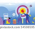 Vector illustration. Business teamwork concept. 54506595