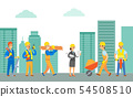 Working People, Builders with Tools and Materials 54508510