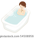Mother to bathe with baby 54508956