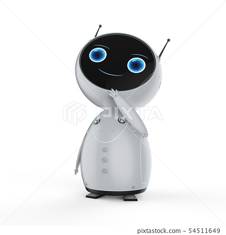 cute artificial intelligence robot thinking 54511649